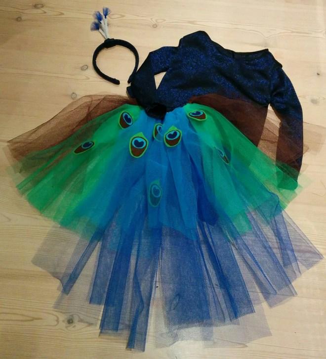 Påfugl kostume