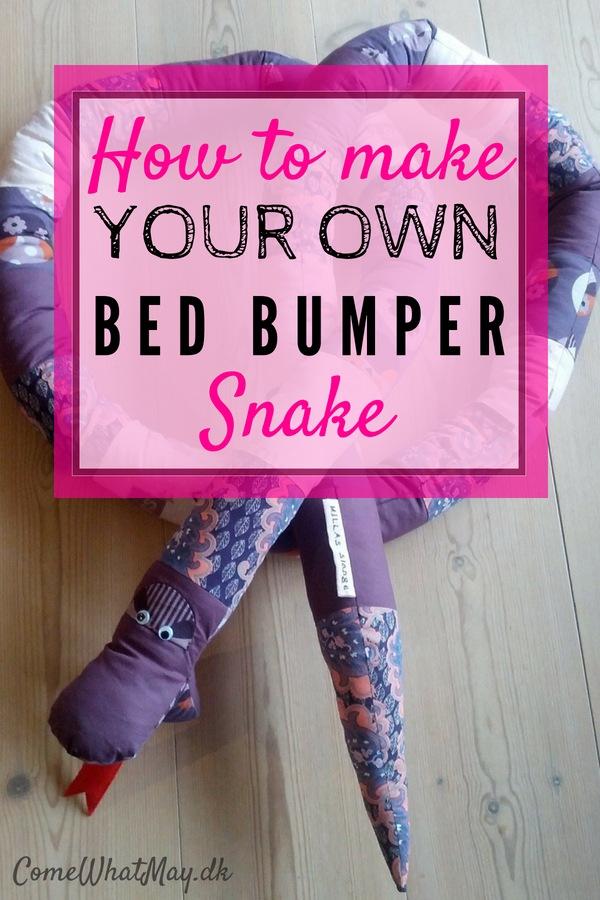 free guide, how to create a bed bumper snake #sengerand #slange #DIY