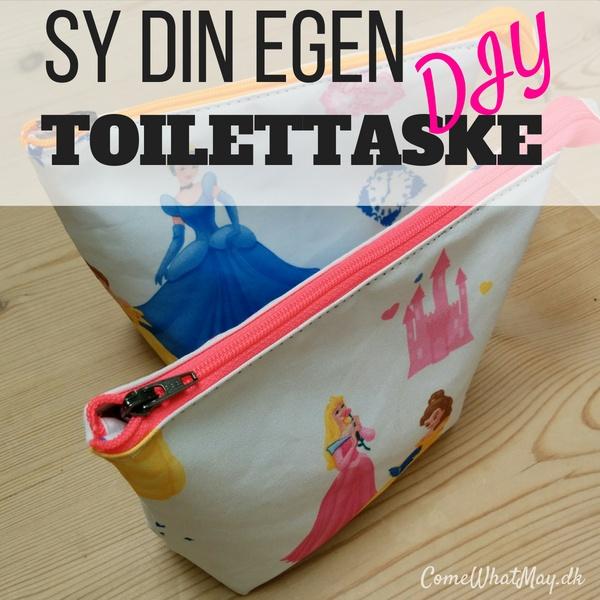 sy nemt din egen toilettaske #diy #sy #pouch #toilettaske