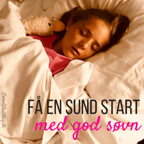 Få en sund start på året med faste sovetider og mere søvn
