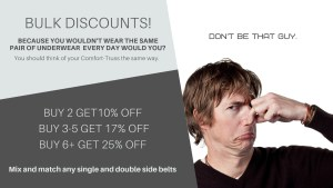 Buy more than one hernia belt get a discount