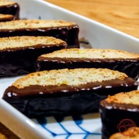 Chocolate dipped biscotti recipe.