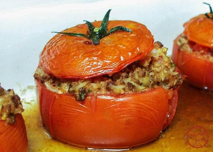 Super hearty Italian Stuffed Tomato recipe.