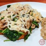 Smothered Chicken Breasts with Asiago, Mushrooms and Spinach