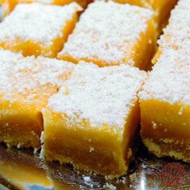 Light and zesty lemon bar recipe.