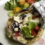 The Greek Inspired Chicken Stuffed Pita Wrap