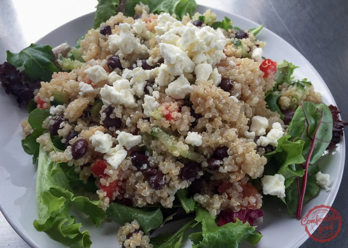 Hearty and healthy quinoa salad recipe.