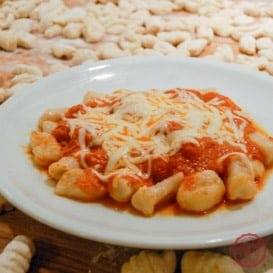 An easy recipe for making potato gnocchi pasta.