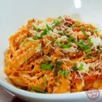 Rich and Creamy Tomato and Basil Pasta