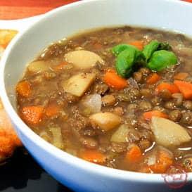 Simple, Delicious Lentil Soup.