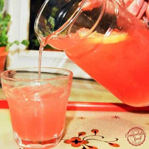 Watermelon lemonade recipe.