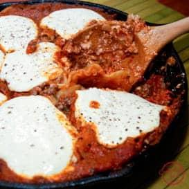 Stovetop skillet lasagna recipe.