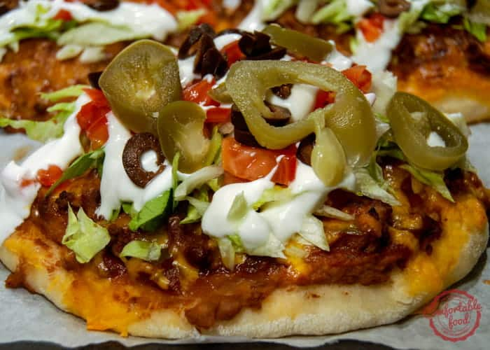 Super customizable and delicious Individual Mexican Pizzas.