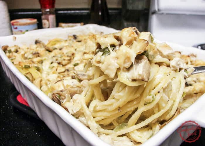 Recipe for a rich and creamy chicken casserole