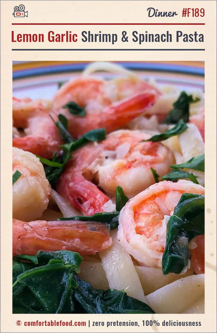 Super easy and delicious Pasta with Lemon,Garlic and Shrimp.