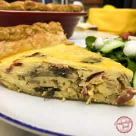An easy, meaty delicious quiche recipe.