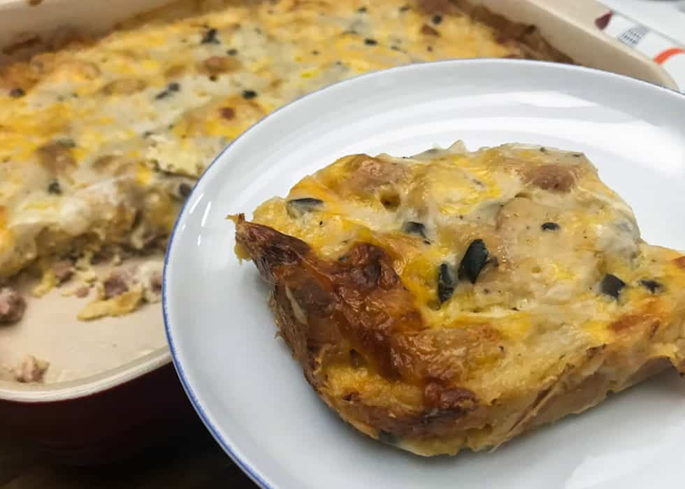 Mary's Marvelous Overnight Breakfast Sausage Bake with Video