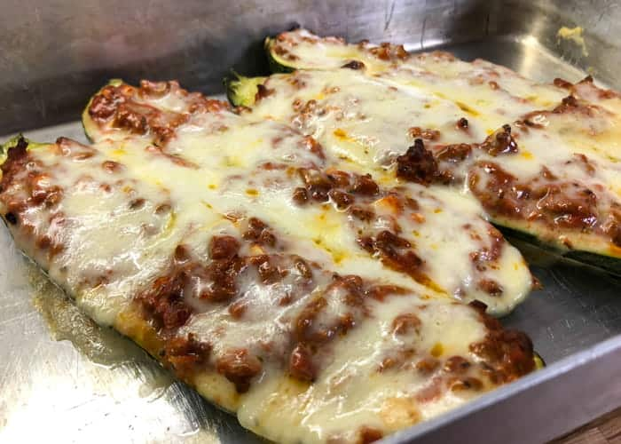 A recipe for Italian Style Stuffed Zucchini Boats.