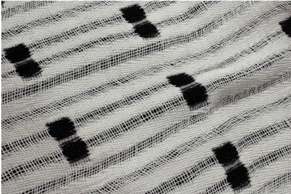 Crammed and Spaced Double Weave fabric, that is lacy and delicate. Image Sourced from WGSN.