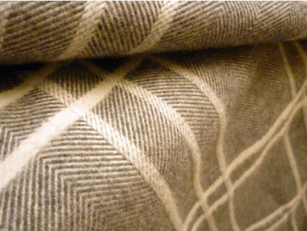 Delicious simple point twill with neutral colors. Image sourced from WGSN.
