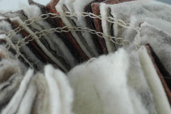 """History"" wool, and hemp, 2011."