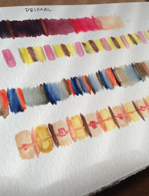 Some color exercises done in watercolor.