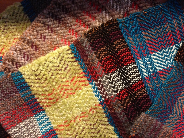 A snap shot of my very first weaving. I was just so excited to weave that color wasn't important.