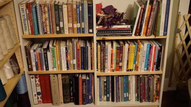 All of my textile books in one spot. It makes me want to buy more.