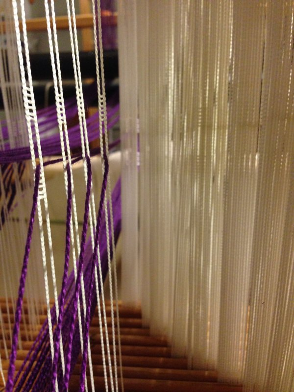 My eyesight is not strong enough to distinguish between each of these thin heddles. But they were handy.