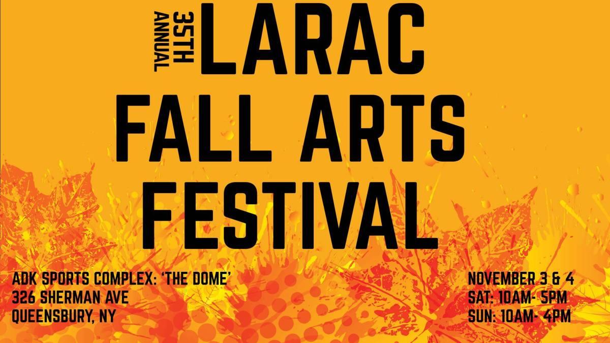 LARAC Fall Arts Festival Graphic