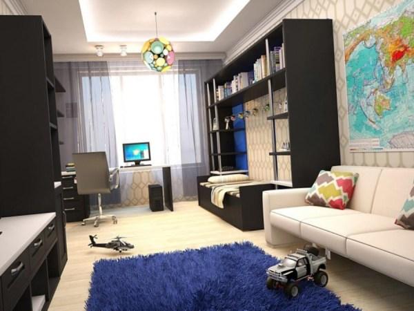 Функциональный интерьер детской комнаты для мальчиков: фото
