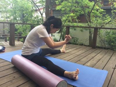 湘南美女会 開脚と背骨の柔軟性