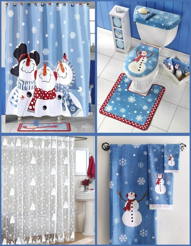 Custom Fashion Merry Christmas Snowman Shower Curtain Bathroom Decor Waterproof Free Shipping Sq0616