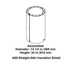 Majestic AS8 Straight Attic Insulation Shield
