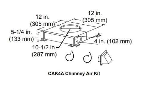 Majestic CAK4A Chimney air kit