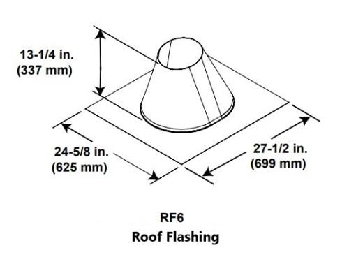 Majestic RF6 Roof Flashing