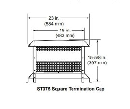 Majestic ST375SS Square Termination Cap Stainless Steel