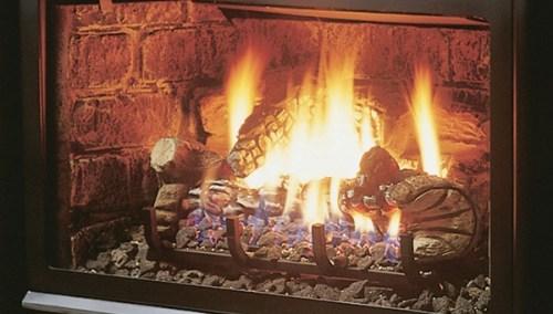 Kingsman Fireplaces LOGF35 Fibre Split Oak
