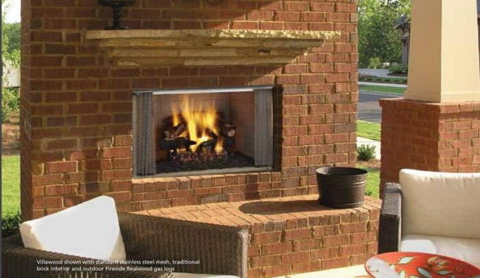 Majestic Villawood Outdoor Wood Fireplace
