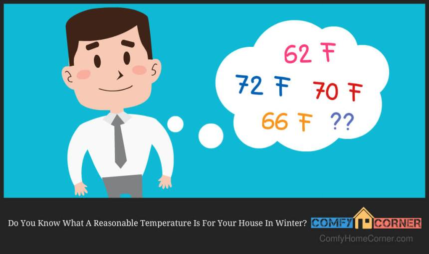 what is a reasonable temperature for a house in winter