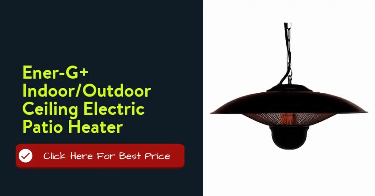 Ener-G+ IndoorOutdoor Ceiling Electric Patio Heater