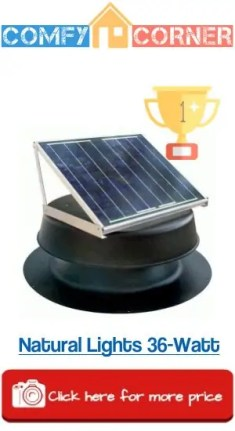 Natural Light Solar Attic Fan 36Watt
