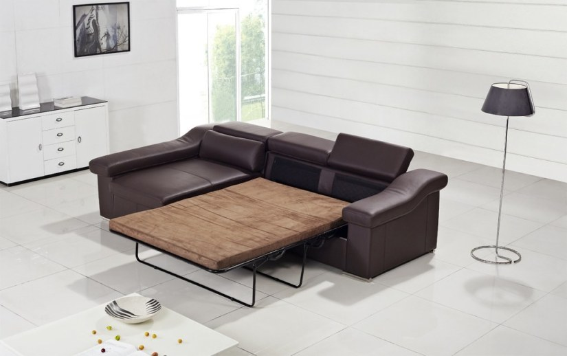 brown sofa bed new to floor lamp