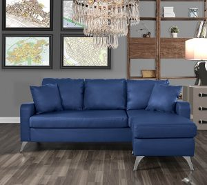 Divano Roma Furniture EXP230-BLU