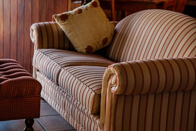 stripped settee