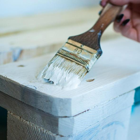 Hemway Chalk Paint ON A BRUSH
