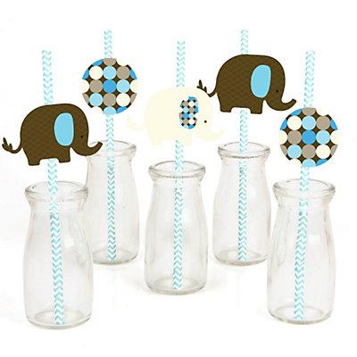 Blue-Elephant-Straw-Decoration-Kit