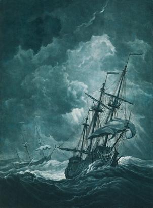 A ship scudding in a gale. PAG6881