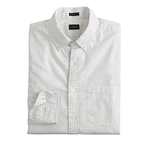 1-Slim Secret Wash Shirt In Pindot by J.Crew