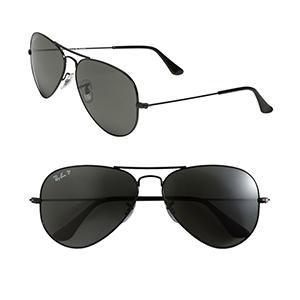 4-Ray-Ban 'Polarized Original Aviator' 58mm Sunglasses